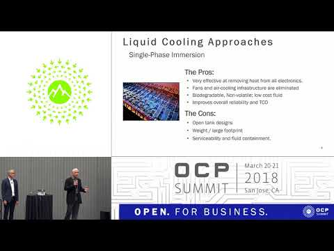 OCPUS18–Innovative Immersion Cooling Approach for Shrinking OCP Data Center Size, Complexity & Costs