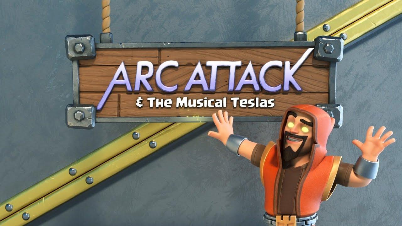 【クラクラ】ArcAttack & ミュージカル メガテスラ