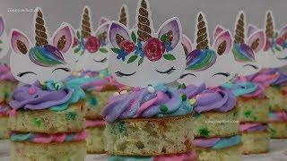 Mini Pastelitos de Unicornio para Fiestas Infantiles - Recetas en Casayfamiliatv