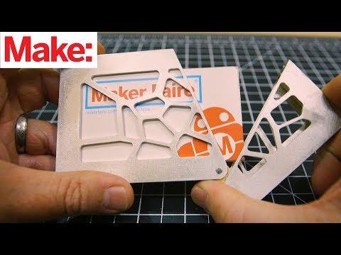 Wood & Metal Business Card Case