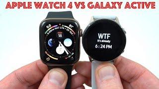 Apple Watch Series 4 LTE vs Samsung Galaxy Watch Active