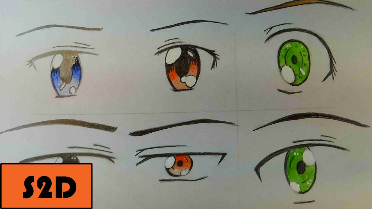 How To Draw Manga Eyes (6 Different Ways) [Part 2: Male ...