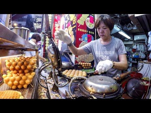 Hong Kong Night Walk in Mong Kok. Markets, Street Food, Musicians, Magicians and More