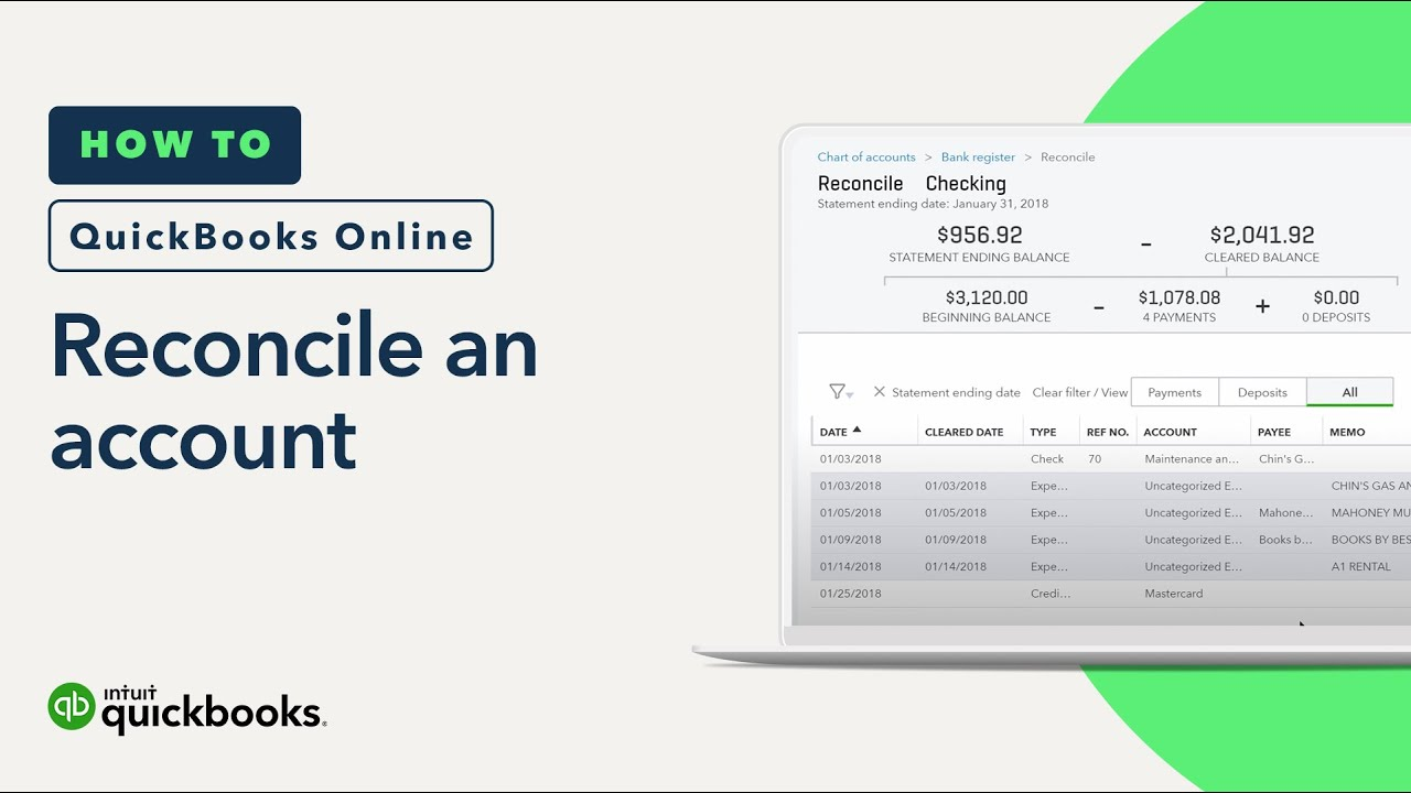 How to reconcile an account: statements, records, & more | QuickBooks Online (Tutorial)