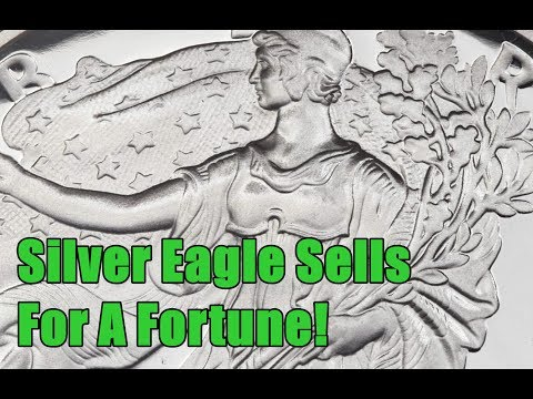 INSANE 1995 American Silver Eagle Bullion Sells For $12,925!!  760x Melt Price!!  HUH?!?!?