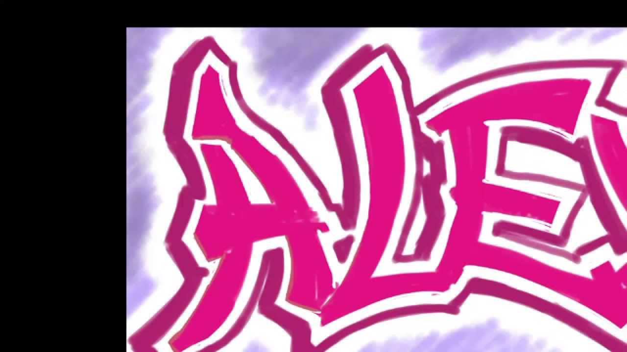 Alex In Graffiti Letters