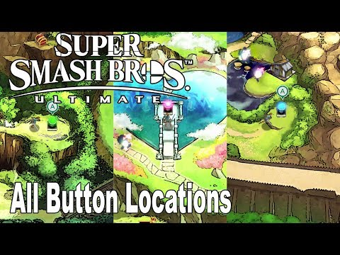Super Smash Bros. Ultimate - All Button Locations For The Light Realm Gates [HD 1080P]