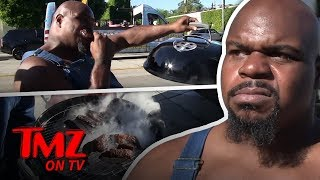 Ex-NFL Star Upset With LA Restaurant Portions, Cooks Own BBQ Outside | TMZ