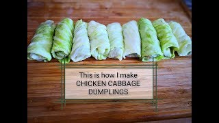 [LOW FAT]!!!How to make Cabbage Dumplings with Chicken Filling || Chicken Cabbage Dumplings