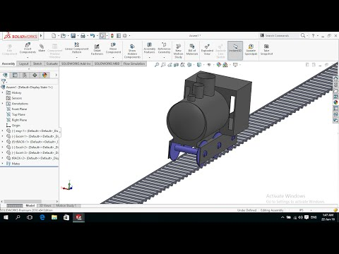 Solidworks Tutorial Modeling and Assembling Train 3/3