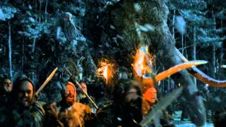 Game of Thrones Season 4: Episode #9 Clip - Wildlings March on the Wall (HBO)