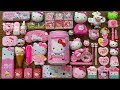 Special Series #PINK Hello Kitty Slime    Mixing Random Things Into Slime    Most Satisfying Slime