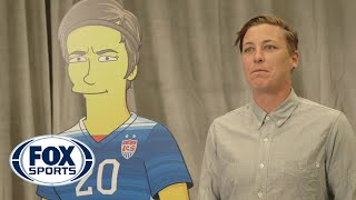 "Alex Morgan, Abby Wambach and Christen Press get ""Simpsonized"""