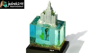 House Underwater 🌊 Diorama / RESIN ART
