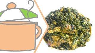 Nigerian Vegetable Soup (edikang Ikong) With Spinach & Lamb's Lettuce