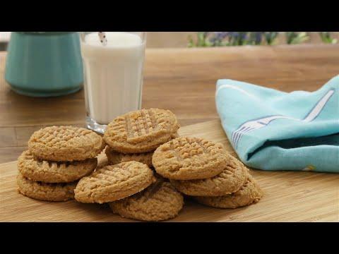biscuits-au-beurre-d'arachide-trois-ingrédients