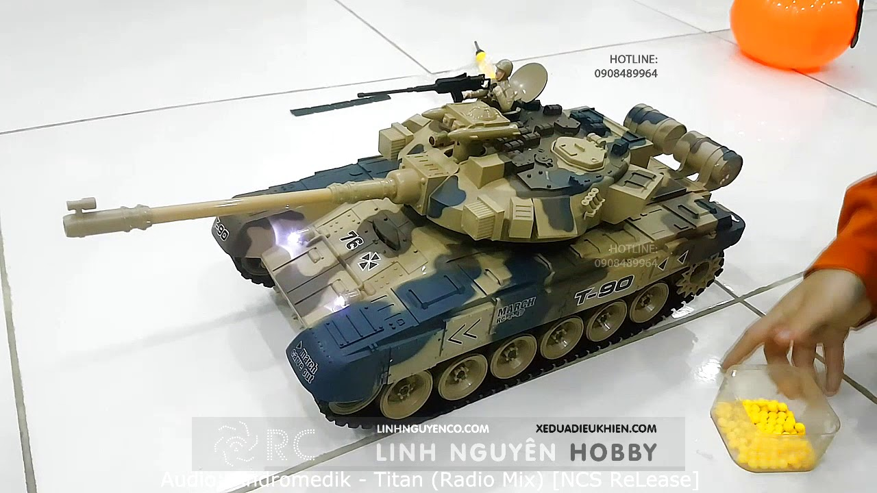 Kids playing RC tank & shooting bullets ,bb bullets, jelly bullets - Remote  controlled battle tank