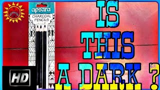 Apsara charcoal pencils.  ✏️ with dark attitude haha?