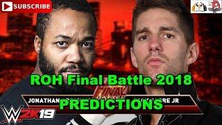 ROH Final Battle 2018 JONATHAN GRESHAM vs  ZACK SABRE JR   Predictions WWE 2K19