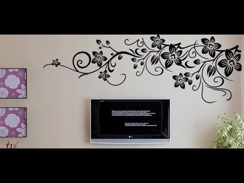 DIY monograph Flower Wall Decal Sticker
