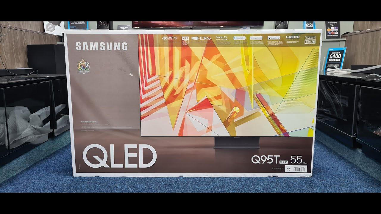 Samsung 2020 Q95T 4K TV Unboxing, Setup and 4K Demo Videos  55Q95T