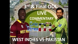 Live: Pakistan Vs West Indies 3rd and final ODI Match in HD with Live Commentary April 11, 2017