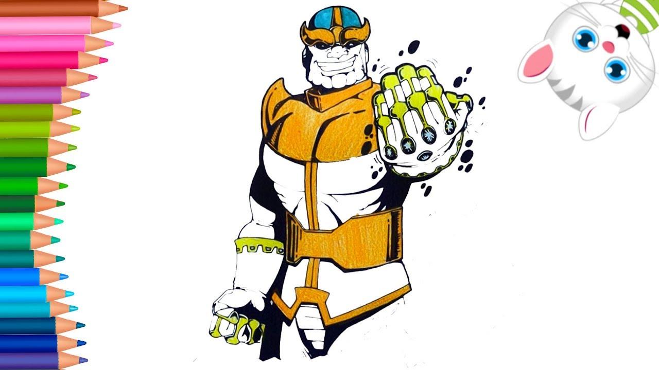 Super Kahraman Thanos Boyama Nasil Yapilir Nasil Cizilir