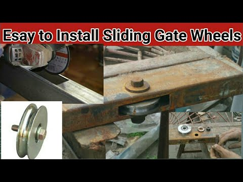 How to install manual Sliding Gate  |  How do you install sliding gate Wheels/ 4 in 1 Business Arts