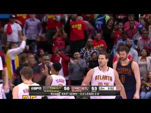Cleveland Cavaliers vs Atlanta Hawks.  Game #3. PlayOffs NBA 2016