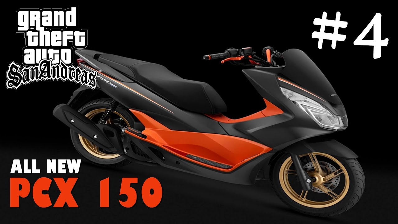Gtasan Mod Pcx 150 Black Orange V 4 Freedownload Youtube