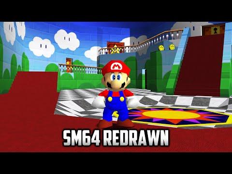 ⭐ Super Mario 64 PC Port - Mods - SM64 Redrawn Texture Pack v1.3 - 4K 60fps