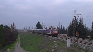 Train-Spotting at Viotia Perfecture in Winter.(23/12/2012)