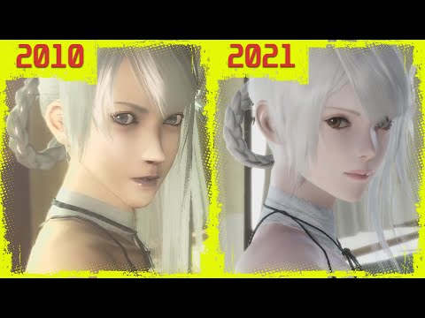 Nier Replicant (????????? ) Original PS3 vs PS4 Remaster Early Graphics Comparison (NEW GAMEPLAY)