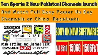 #SonypowerVukey #1506G #1507G Sony Network New Softwares Ali3510/1506 Dec  2018 by Technical tech