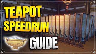 Fast Level Up! - Serenitea Pot Guide - Teapot【Genshin Impact】
