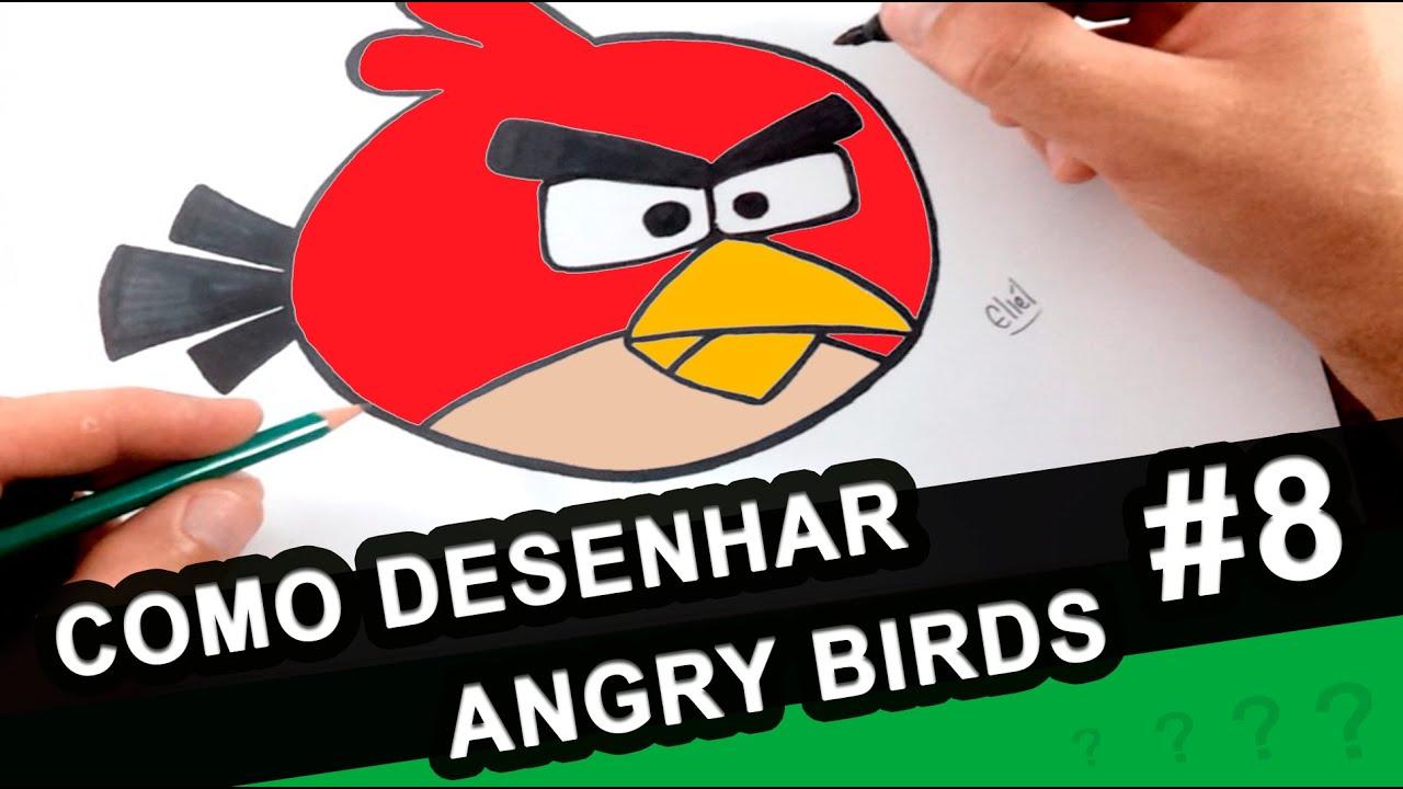 Angry Birds Red Bird Como Desenhar O Red Bird Desenho Facil