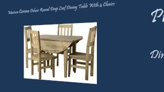 Mexican Corona Deluxe Round Drop Leaf Dining Table With 4 Chairs