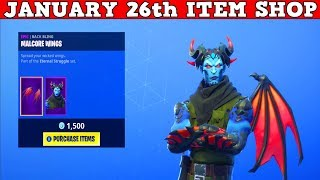Fortnite Item Shop (January 26th) | *NEW* Malcore Skin + Wings! Evil Eye Pickaxe!