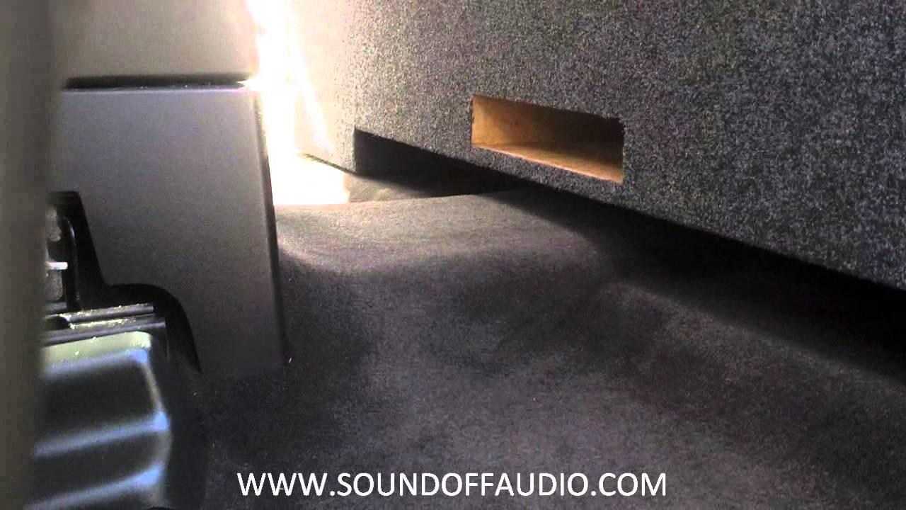 Chevy Gmc Crew Cab Vented Box 2007 2013 By Soundoffaudiocom Youtube Subwoofer Diagram