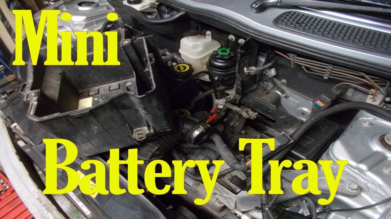 Mini battery tray removal