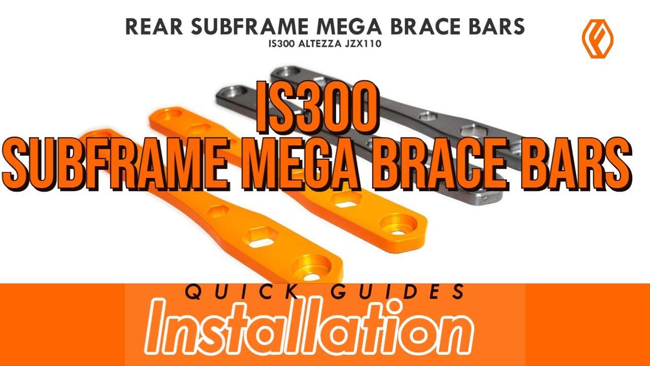 FIGS IS300 REAR SUBFRAME MEGA BRACE BAR INSTALL