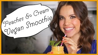 Ingrid Dishes | Peaches and Cream Smoothie | Recipes from Missglamorazzi