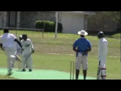 2012 Ntca Cricket League Dallas Salman Tahir Taking Six Wickets For Lcc Kings