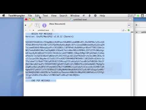 PGP Entschlüsselung am Mac mit Automator