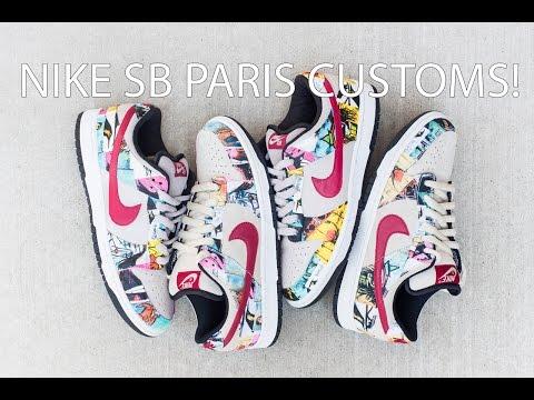 Nike SB Paris Customs