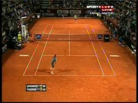 Roger Federer vs Jerzy Janowicz  ATP Rome 2013. Highlights (bojan svitac)