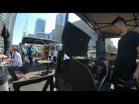 West India Quay, London, The Street Food Market. A Walk Around