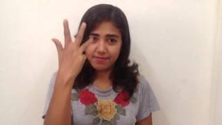 My wife's basic Burma sign language