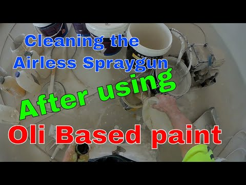 How to Clean  airless spraygun after spraying oil based paint