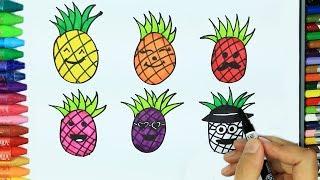 Ananas - Yıldız - Park nasıl çizilir? | Çizelim Boyayalım